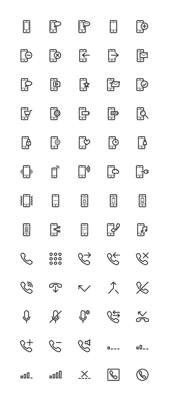 Phone & Network Line Icons in Icons - product preview 5