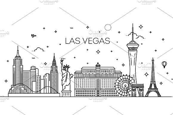 Las Vegas Linear Skyline