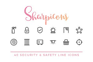 Security & Safety Line Icons