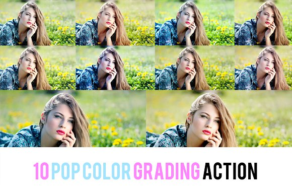 10 POP COLOR GRADING ACTION
