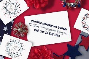 Monogram Patriotic Mandala Bundle