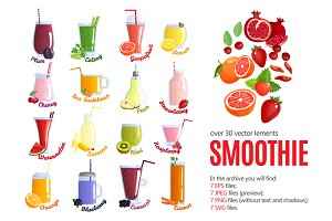 Fruit Smoothies Set
