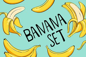 Bananas set