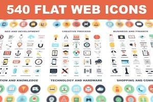 Simplistic Flat Web icons.