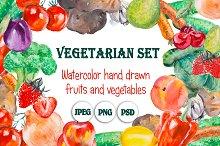 Frames from vegetables & fruits.