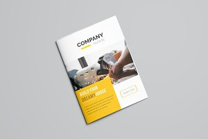 Creative Yellow Bifold Brochure