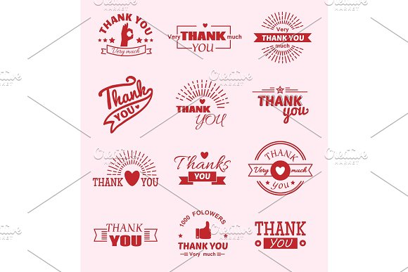 Thank You Quote Slogan Citate Vector Text Message Feeling Emotions Lettering Vector Badge Thanksfull Quote Phrases Message Flayer Brochure Layout Card Design