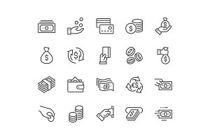 Line Money Icons