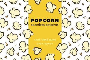 Popcorn seamless vector patterns
