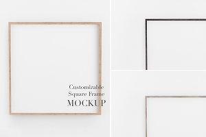 Mockup Frame Customizable 1x1 Ratio