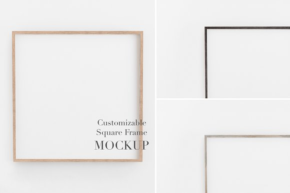 Mockup Frame Customizable 1x1 Ratio in Graphics