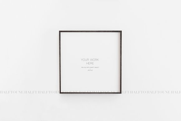 Mockup Frame Customizable 1x1 Ratio in Graphics - product preview 5