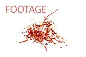 Saffron spice footage