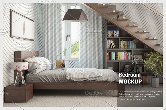 Curtain Bedroom Mock-up