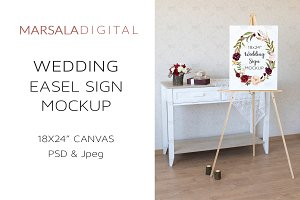 Wedding Easel Sign Mockup