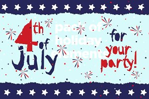 4th July grunge pattern pack