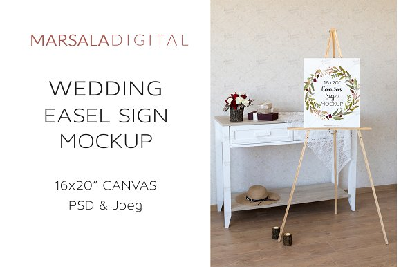 Wedding Seating Chart Mockup