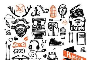 Sketch hipster set