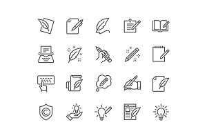 Line Copywriting Icons