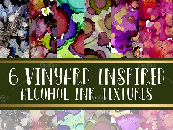 Vineyard Themed Alcohol Ink Textures