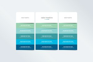 Pricing table design template