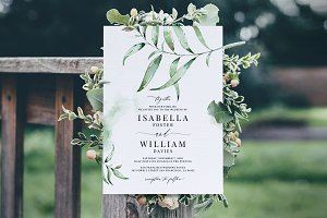 Wedding Invitation Template, Aurora