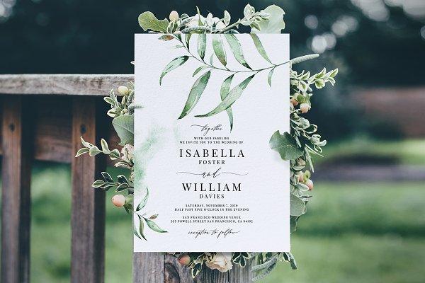 Wedding Invitation Template, Aurora
