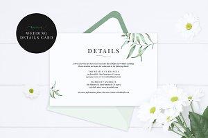 Wedding Details Card, Aurora
