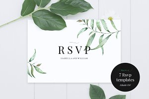 Wedding RSVP Card Template, Aurora