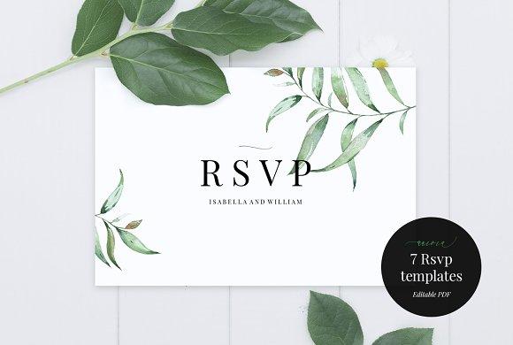 wedding rsvp card template aurora invitation templates creative