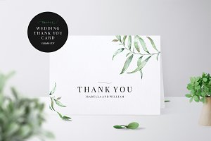 Wedding Thank You Card, Aurora