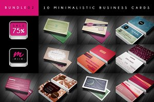 (Sale -75%) Business Cards Bundle 02