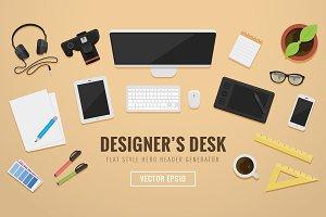 Designer Desko Hero Header Creator