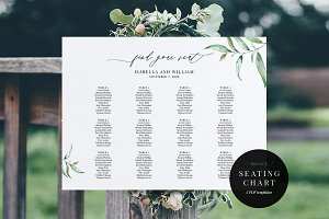 Wedding Seating Chart, Aurora