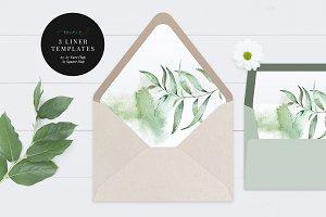 Printable Envelope Liner, Aurora