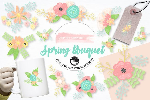 Spring Bouquet Graphics Illustration