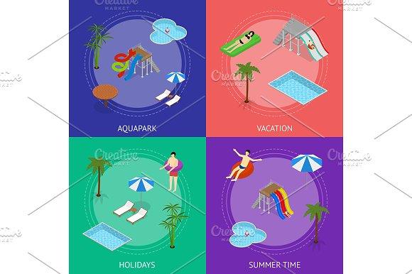 Aqua Park Banner Card Set