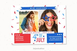 4th of july mini session template