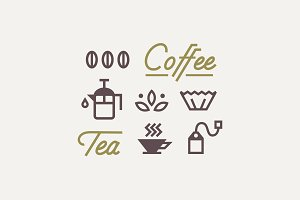 Coffee & Tea Icon Set