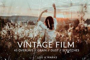 Vintage Film Texture Overlays // PS