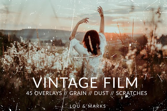 Vintage Film Texture Overlays PS