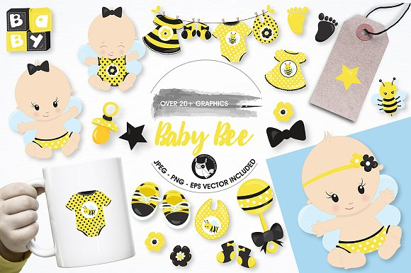 Baby Bee Graphics And Illustrations