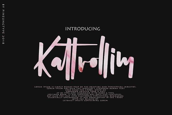 Script Fonts - Kattrolim