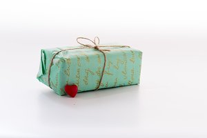 Craft gift box. A gift with your own hands.