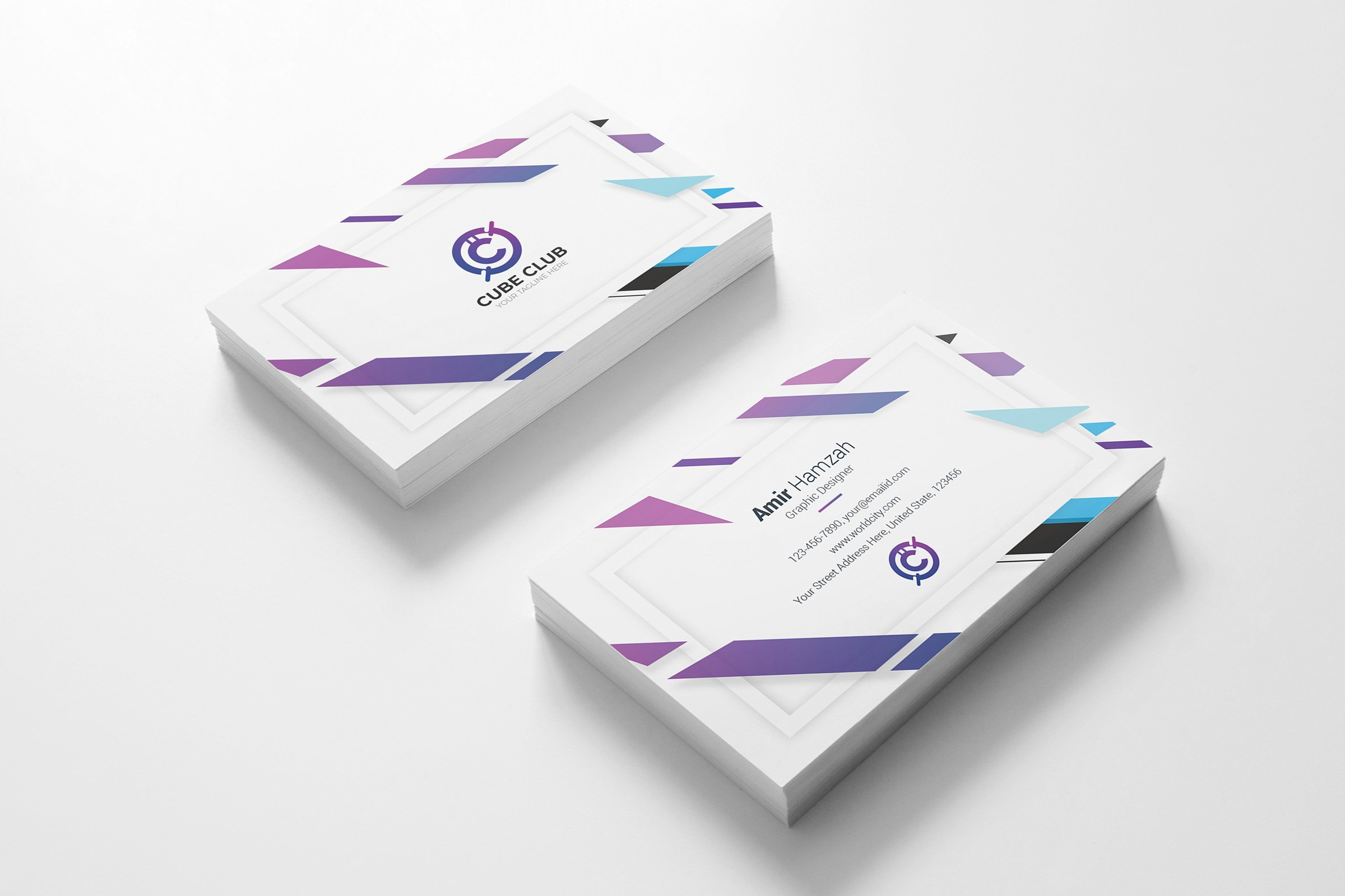 Cube Club Business Card Business Card Templates Creative Market