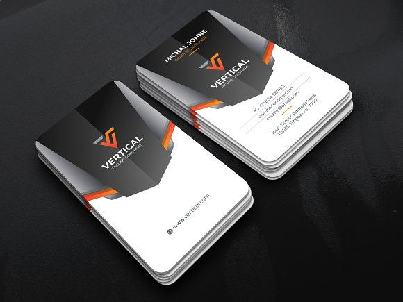 Vertical Business Card Business Card Templates Creative Daddy - Templates business card