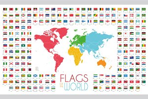 Flags of the World Illustration