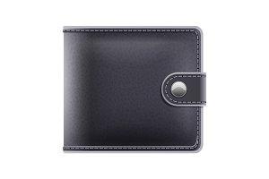 Black purse for money male accessory