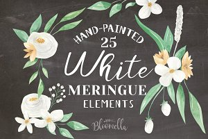 Flower Wedding Watercolor Elements