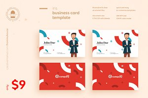 Iris Business Card Template